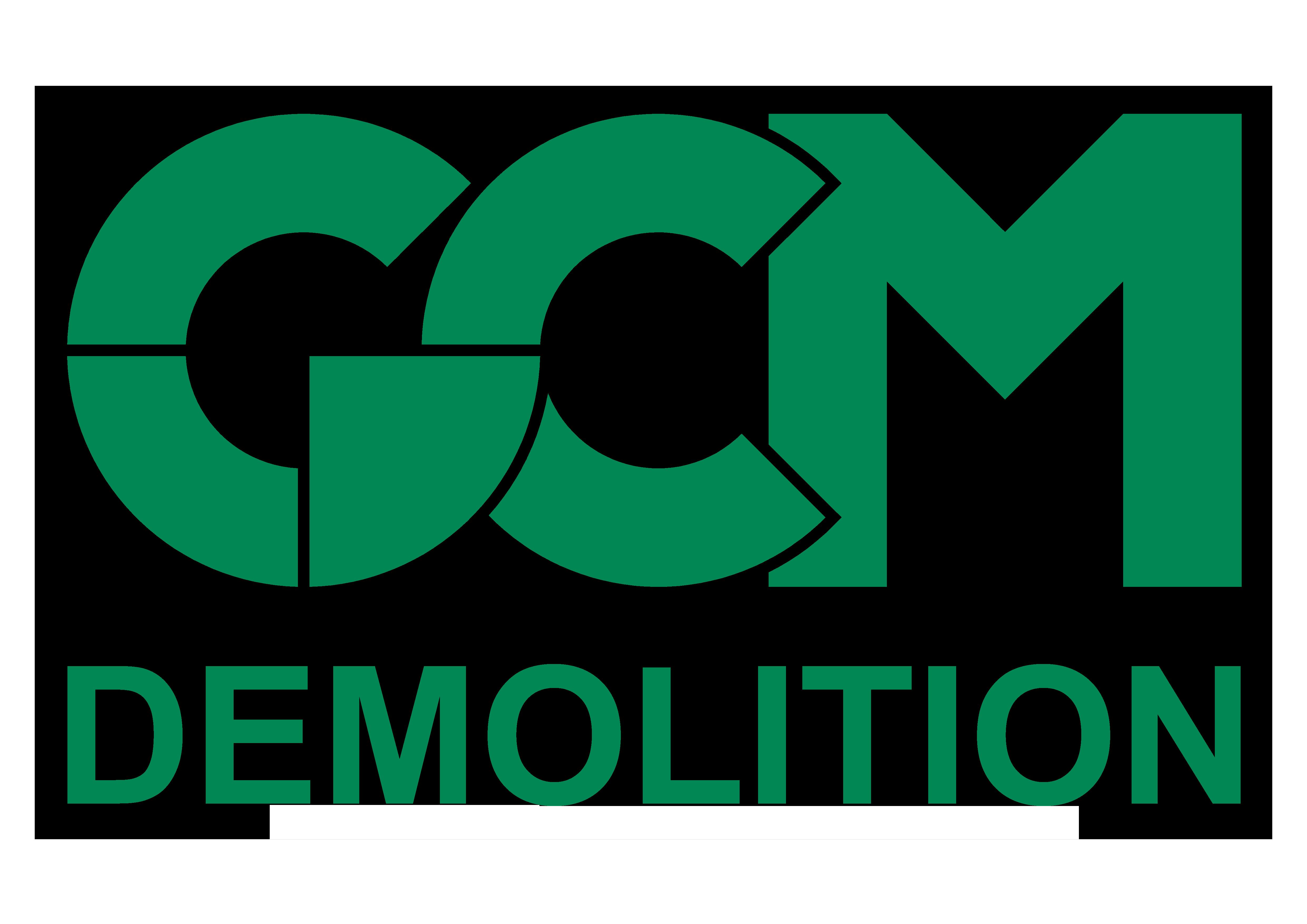 NOS SPONSORS logo gcm demolition
